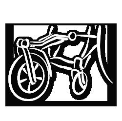 Ausstattung für Rollstühle & Stehgeräte