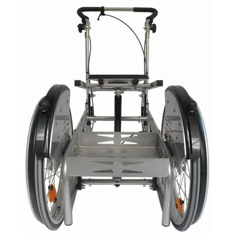 Wheelchair for lying on your stomach
