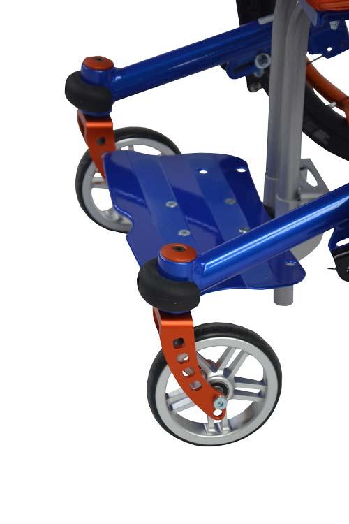 Lenkradgabeln goldorange eloxiert an Mio Move Kinderkantelrollstuhl