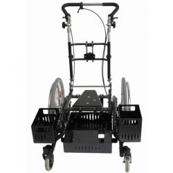 Seat shell wheelchair with appliance bin
