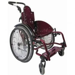 Tiltable wheelchair with adjustable seat abduction