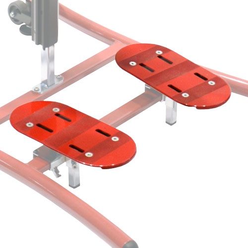 Foot plates standing devices