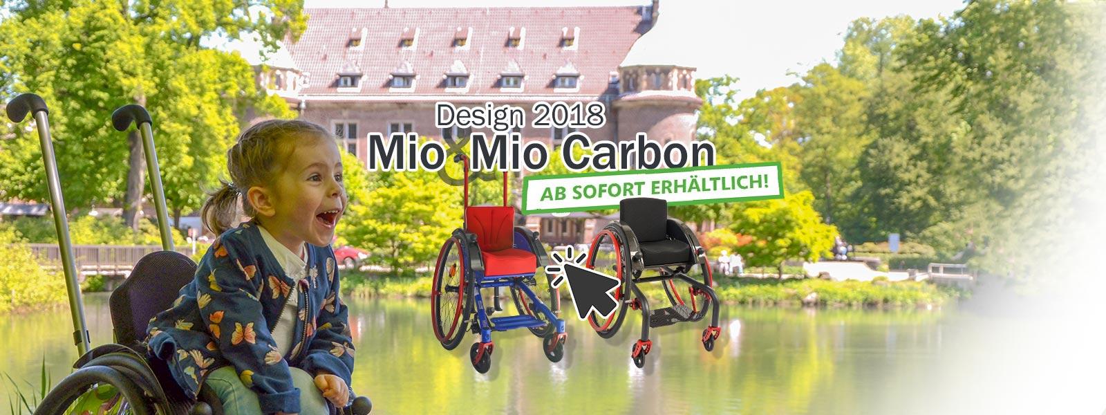 Aktivrollstuhl für Kinder - der neue Mio Design 2018