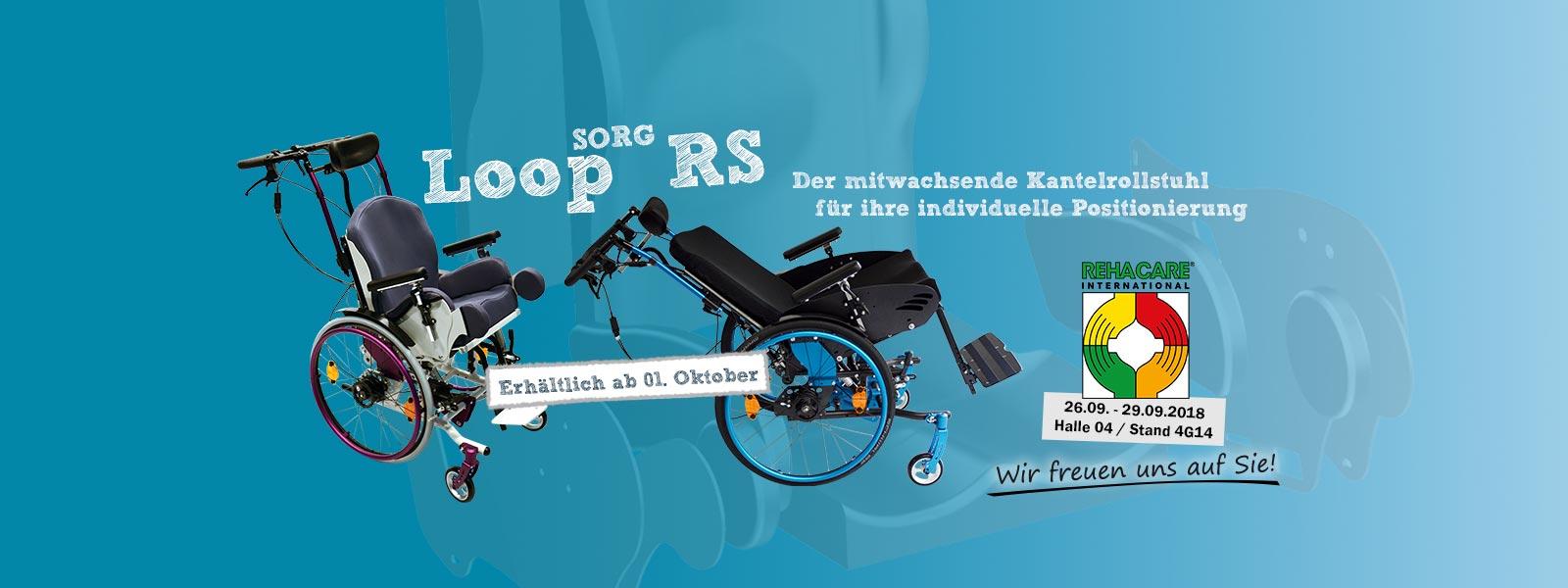 Loop RS, der mitwachsende Kantelrollstuhl für die individuelle Körperführung