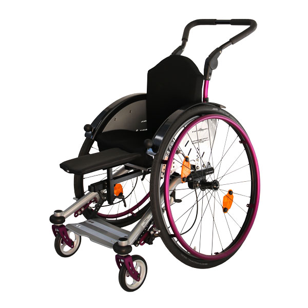 Wheelchair with leg support