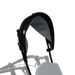 Sonnenschutz Rollstuhl gefaltet arretiert