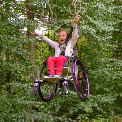 Hanna - Mit dem Rollstuhl im Kletterpark