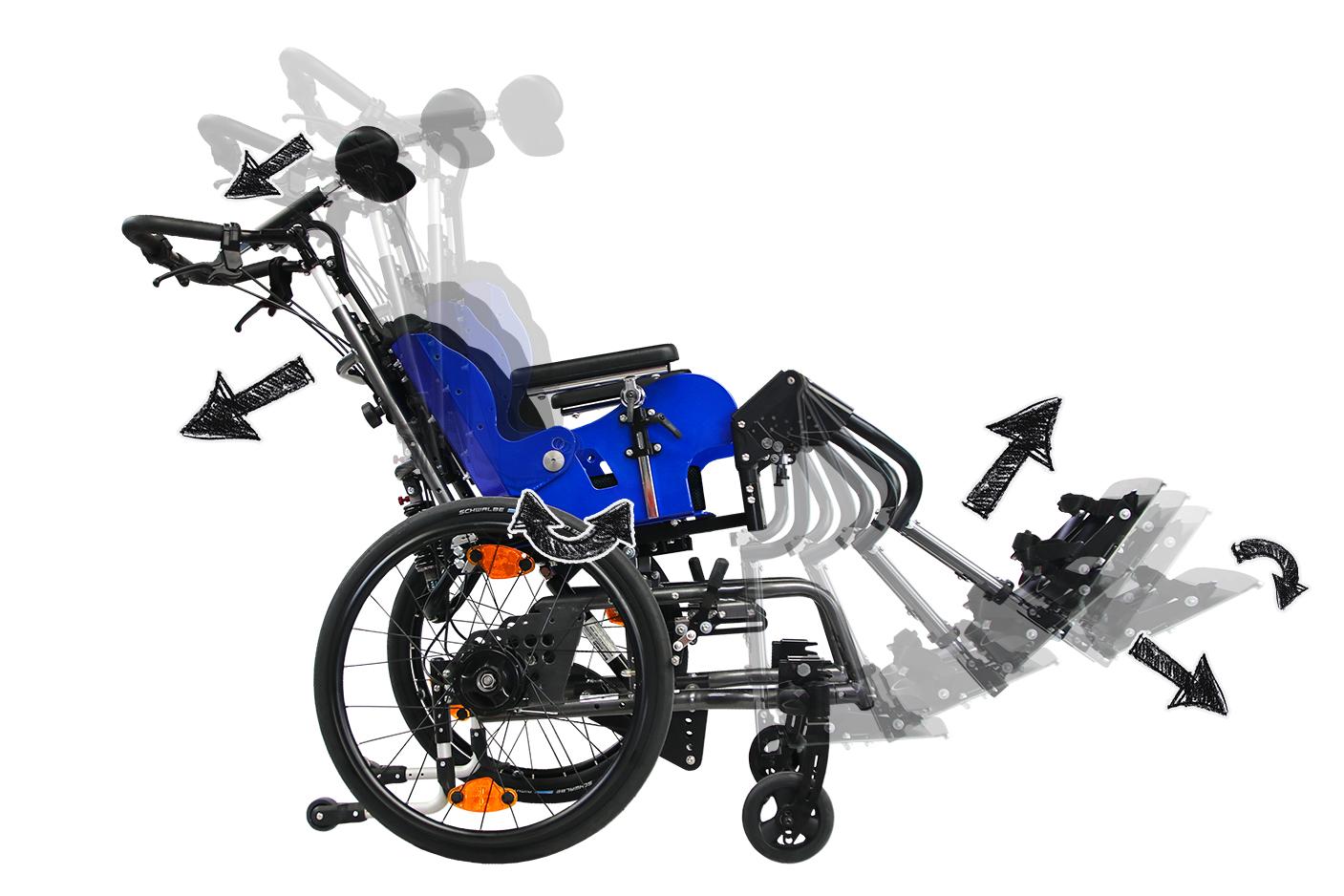 Tiltable wheelchairs Dynamis TSD
