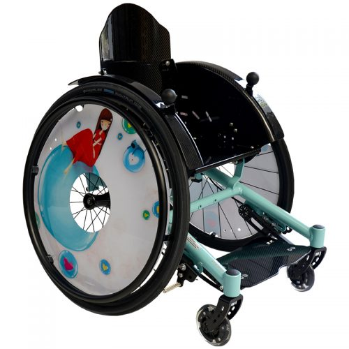 Wheelchair in special color