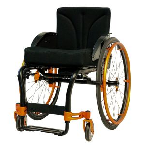 Aktivrollstuhl schwarz orange Airon neu