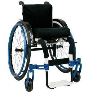 Adaptivrollstuhl Airon cremeweiß blau