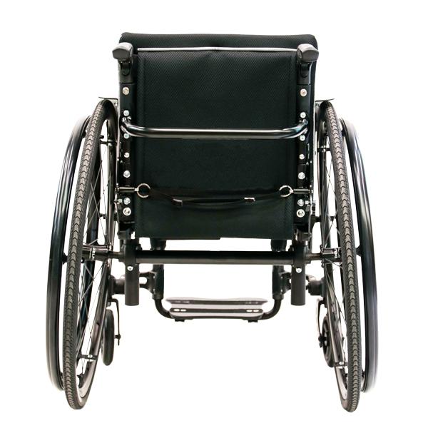 Adaptivrollstuhl Airon neu schwarz Rückansicht hinten