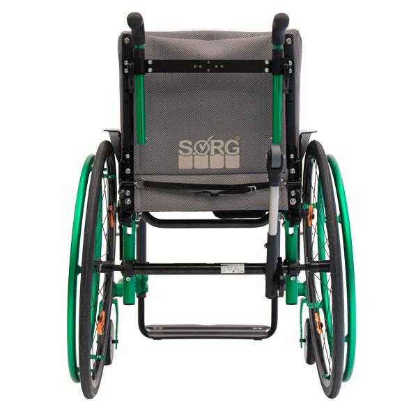 Adaptivrollstuhl Airon von SORG Rollstuhltechnik grün grau schwarz